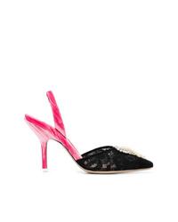 Zapatos de tacón de encaje negros de ATTICO