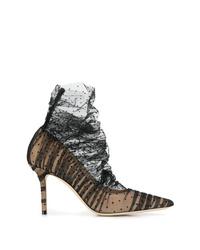 Zapatos de tacón de encaje negros de Jimmy Choo