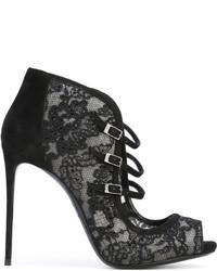Zapatos de tacón de encaje negros de Le Silla