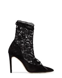 Zapatos de tacón de encaje negros de Liudmila