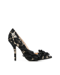 Zapatos de tacón de encaje negros de N°21
