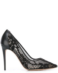 Zapatos de Tacón de Encaje Negros de Valentino Garavani