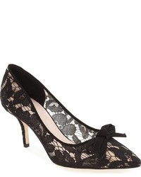 Zapatos de tacón de encaje