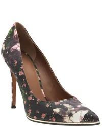 Zapatos de Tacón de Flores Negros de Givenchy