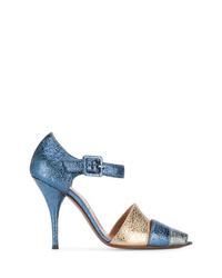 Zapatos de tacón de lentejuelas azules de L'Autre Chose