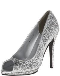 Zapatos de Tacón de Lentejuelas Plateados de Touch Ups