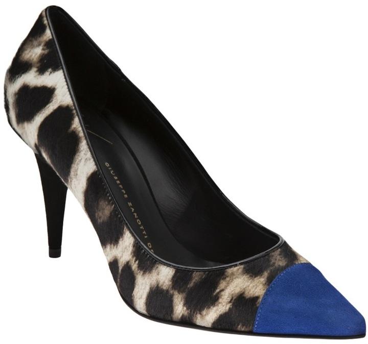 Zapatos Zanotti Giuseppe De 961 Tacón Azules Leopardo 13 Mex rFw7rXq