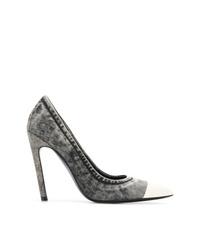 Zapatos de tacón de lona en gris oscuro de Diesel
