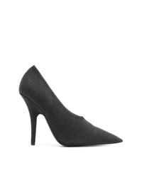 Zapatos de tacón de lona en gris oscuro de Yeezy