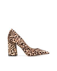 Zapatos de tacón de pelo de becerro de leopardo marrónes de Sam Edelman