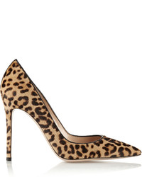 Zapatos de tacón de pelo de becerro de leopardo