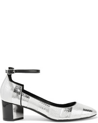 Zapatos de tacón de rayas horizontales