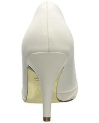 Zapatos de tacón de satén blancos de Adrianna Papell