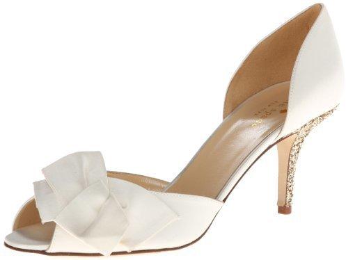 Zapatos de Tacón de Satén Blancos de Kate Spade