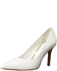 Zapatos de tacón de satén blancos de Ralph Lauren