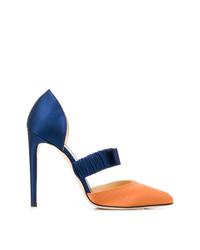 Zapatos de tacón de satén en multicolor de Chloe Gosselin
