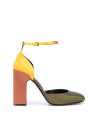Zapatos de tacón de satén en multicolor de Fabrizio Viti