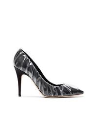 Zapatos de tacón de satén negros de Off-White