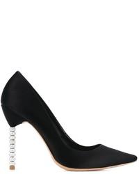 Zapatos de Tacón de Satén Negros de Sophia Webster