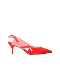 Zapatos de tacón de satén rojos de Paul Andrew