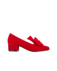 Zapatos de tacón de terciopelo rojos