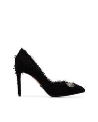 Zapatos de tacón de tweed con adornos negros de Balmain
