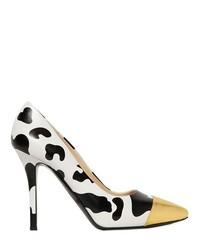 Zapatos de tacón estampados en negro y blanco