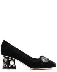 Zapatos de Tacón Negros de Dolce & Gabbana