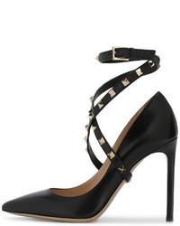 Zapatos de Tacón Negros de Valentino