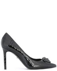 Zapatos de Tacón Negros de Versace