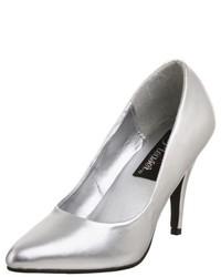Zapatos de tacón plateados de Pleaser