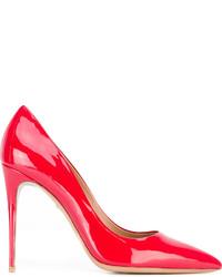 Zapatos de tacón rojos de Salvatore Ferragamo