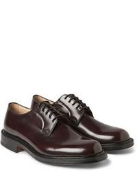 Zapatos derby burdeos