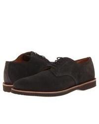 Zapatos derby de ante en gris oscuro