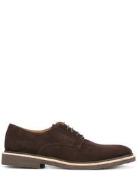 Zapatos derby de ante en marrón oscuro de Corneliani
