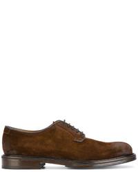 Zapatos derby de ante en marrón oscuro de Doucal's