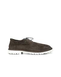Zapatos derby de ante en marrón oscuro de Marsèll
