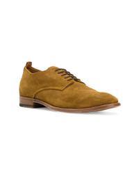 Zapatos derby de ante en tabaco de Buttero
