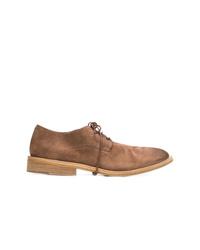 Zapatos derby de ante en tabaco de Marsèll