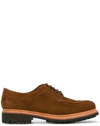 Zapatos derby de ante marrónes de Grenson