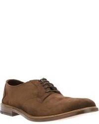 Zapatos Derby de Ante Marrónes