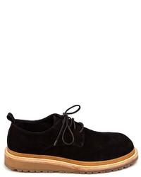 Zapatos derby de ante negros de Ann Demeulemeester