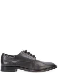 Zapatos derby de ante negros de Paul Andrew