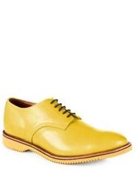 Zapatos derby de cuero amarillos