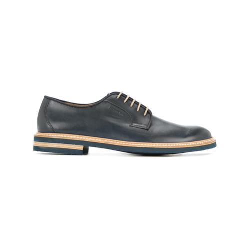 44581b4f Zapatos derby de cuero azul marino de Cerruti 1881, MEX$11,889 ...