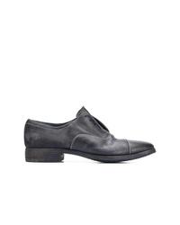 Zapatos derby de cuero azul marino de Premiata