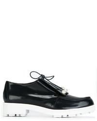 Zapatos derby de cuero azul marino de Robert Clergerie