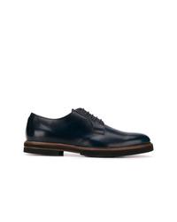 Zapatos derby de cuero azul marino de Tod's