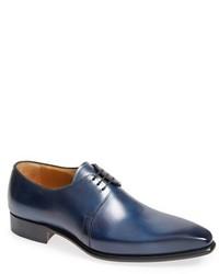 Zapatos derby de cuero azules