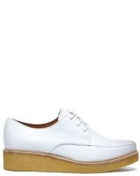 Zapatos Derby de Cuero Blancos de Swear